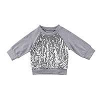 Копия Детская футболка с длинным рукавом и пайетками