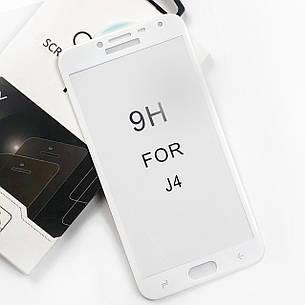 Защитное стекло 5D Premium Samsung J400 J4 2018 White, фото 2