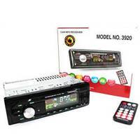 Автомагнитола 1DIN MP3-3920 RGB панель