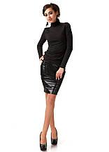 Модная женская юбка из кожи. Ю092