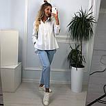 Новинка! Женская белая рубашка хлопковая рубашка с хвостом, фото 3