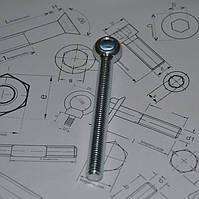 Болт откидной М22 DIN 444 из нержавейки
