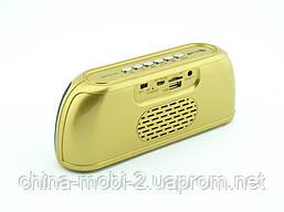 Блютуз колонка, Golon RX-1818bt 6W, золота, фото 3