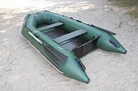 Надувная лодка Ладья ЛТ-290-МВЕ (моторная) со сланью-книжкой и передвижным сиденьем, фото 4