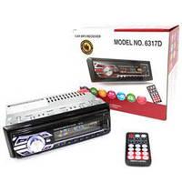 Автомагнитола 1DIN MP3-6317DBT RGB / Сьемная панель
