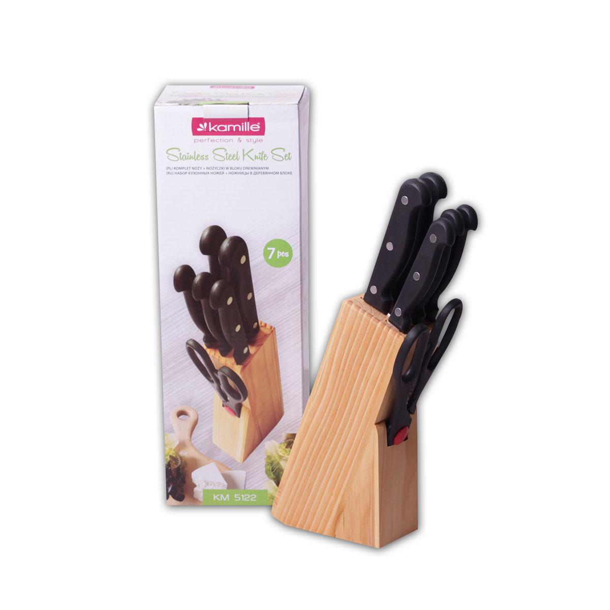 Набір ножів Kamille 7 предметів з нержавіючої сталі з ручками бакелітових
