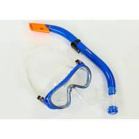 Набор для плавания подростковый маска с трубкой M161-SN93-SIL