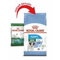 Royal Canin (Роял Канин) Mini Puppy корм для щенков 2-10 месяцев, 8кг+24 консервы в подарок