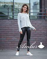 Женский свободный свитер тонкой вязки 8KF367, фото 1