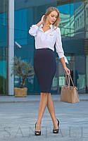 Женская рубашка из софта в расцветках 45BL194, фото 1