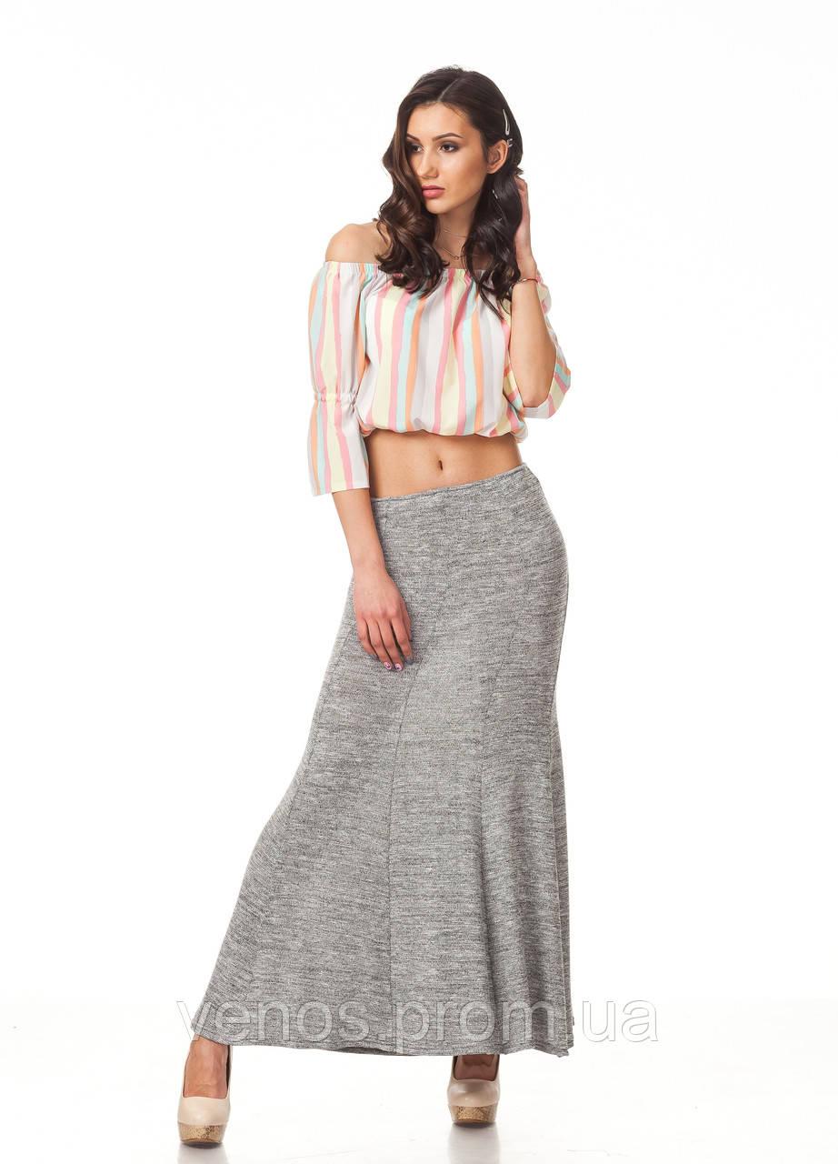 Женская летняя юбка в пол клиньями . Ю093