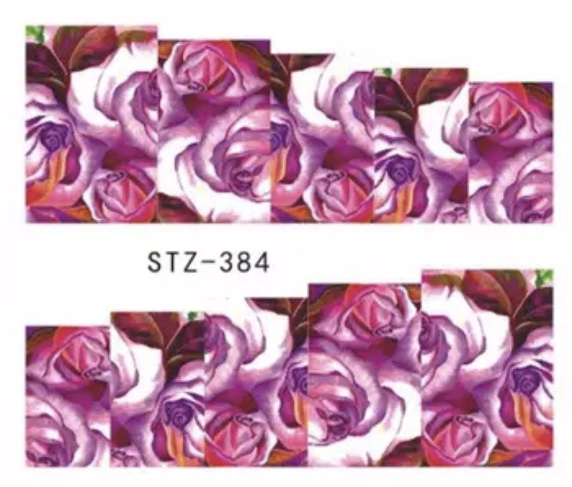 Слайдер-дизайн для ногтей STZ-384  6.2*5.2 см