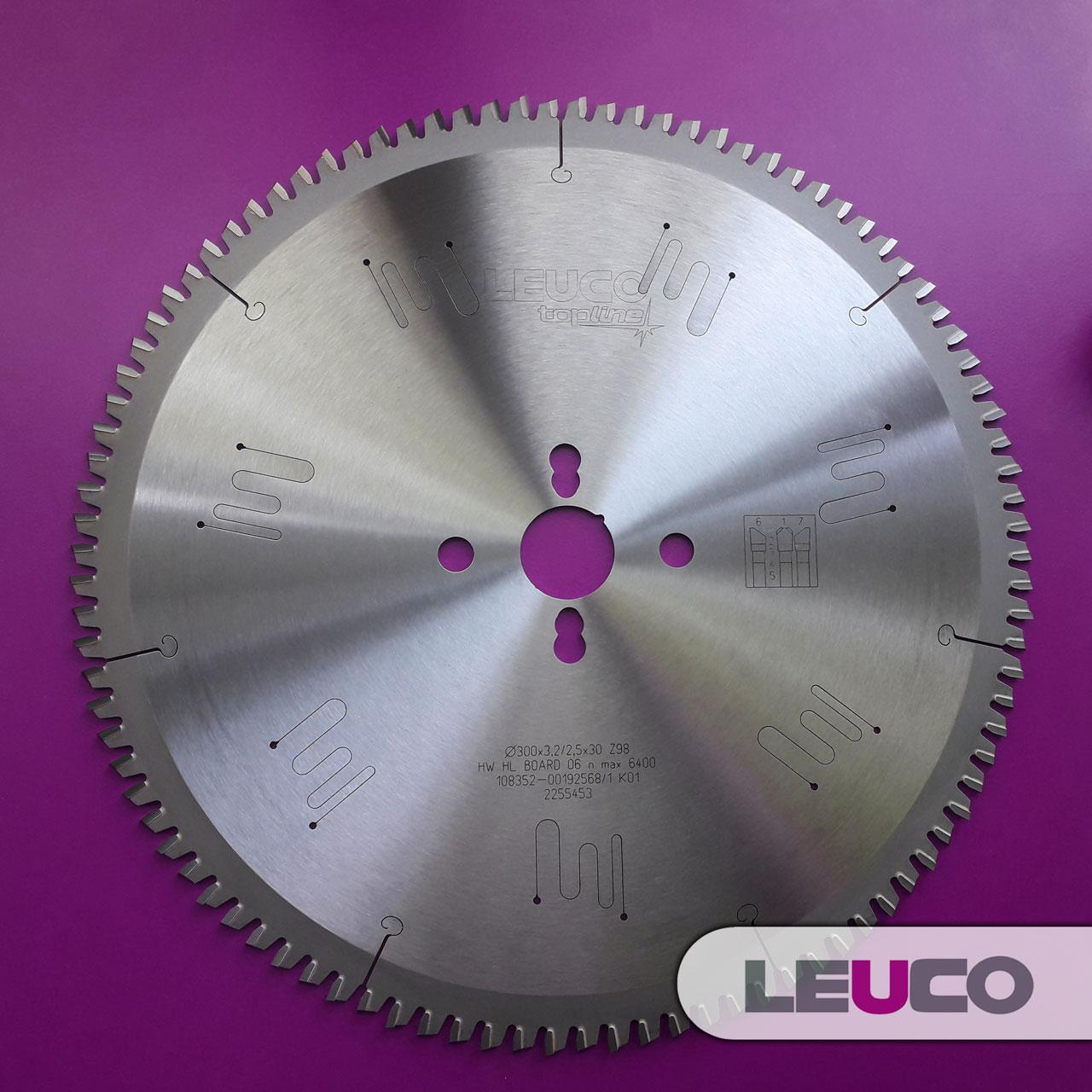 300x3,2x2,5x30 Z=98 Пильний диск для алюмінієвого профілю Leuco (геометрія G7)