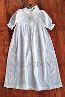 Легке та ніжне плаття для хрещення на дівчинку з 100% бавовни, з мереживом