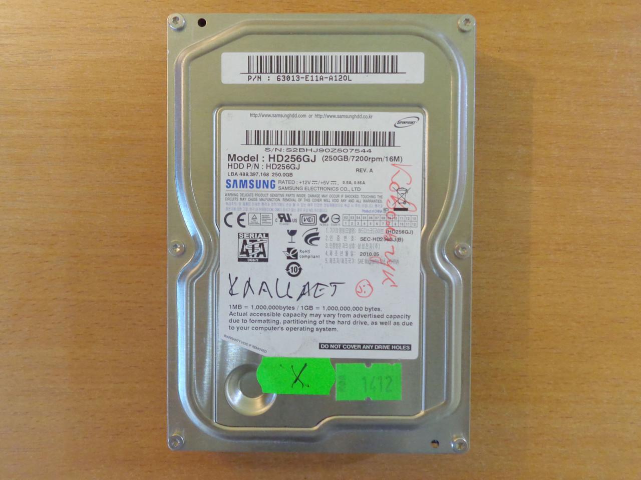 Жесткий диск HDD 3,5 Samsung 250 Gb SATA 2 нерабочий