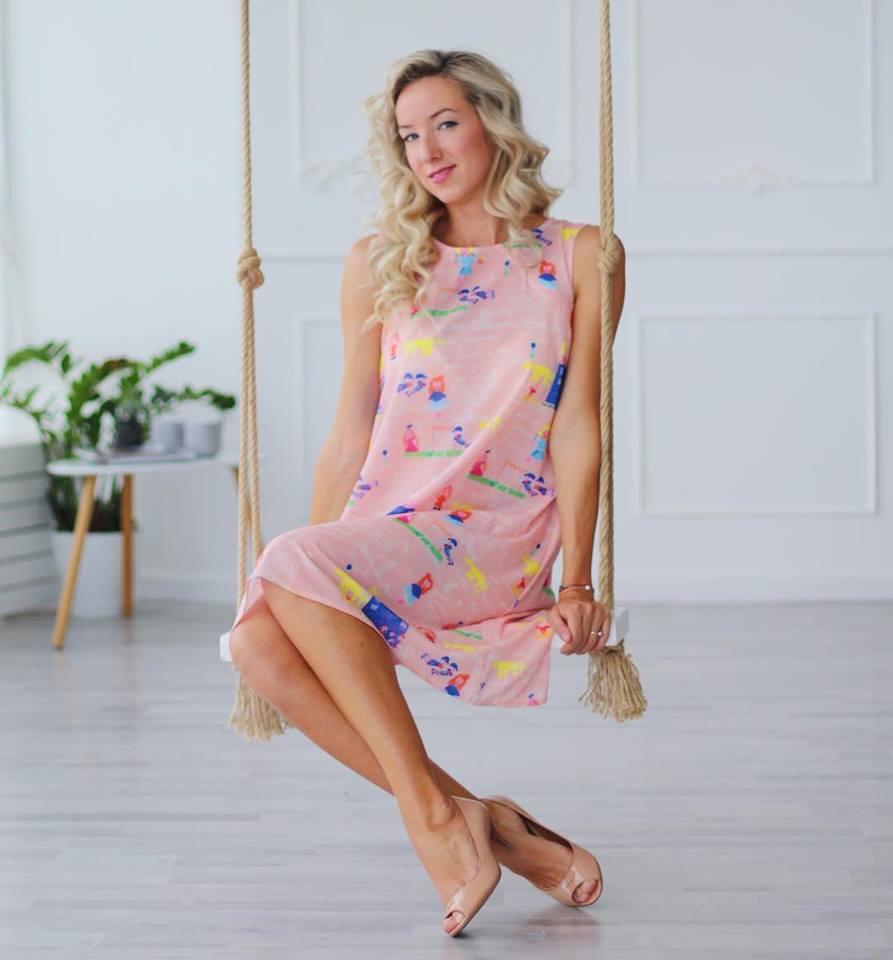 136fe0584b18 Платье летнее Мама для беременных и кормящих мам HIGH HEELS MOM (розовый,  размер S
