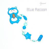 Силиконовая игрушка-грызунок на держателе Blue racoon BABY MILK TEETH