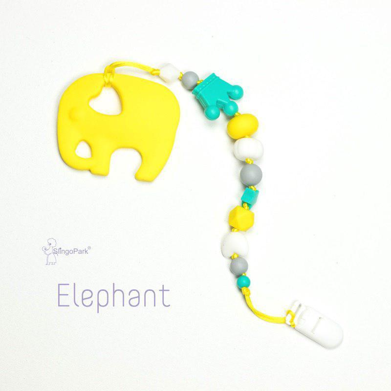 Грызунок из пищевого силикона BABY MILK TEETH Yellow Elephante