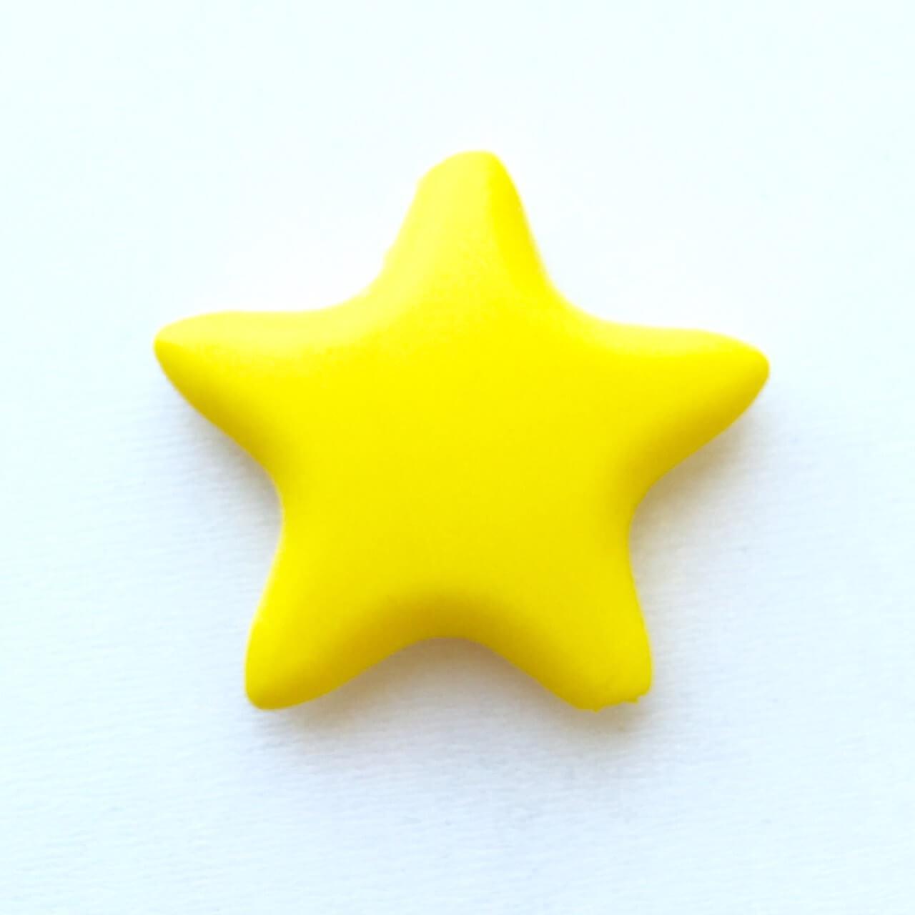 Звезда  острокон. (желтая), бусины из пищевого силикона
