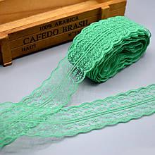 Кружево Анжелика  4 см, зеленый