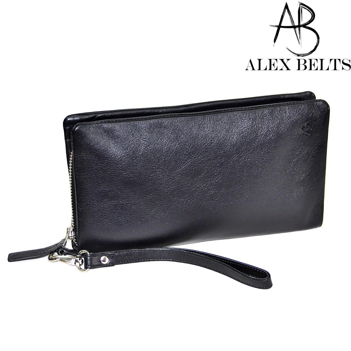 4c2a01b63d3a Мужской портмоне-клатч (черный) натуральная кожа-купить оптом в Одессе -  ALEXBELTS