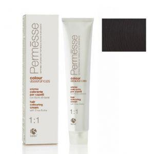 2,0 Супер темний каштан, Barex Permesse Крем - фарба для волосся з маслом каріте 100 мл.