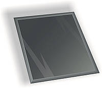 Зеркальная плитка НСК квадрат 600х600 мм фацет 15 мм графит, фото 1