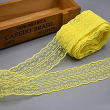 Кружево Анжелика  4 см, желтый