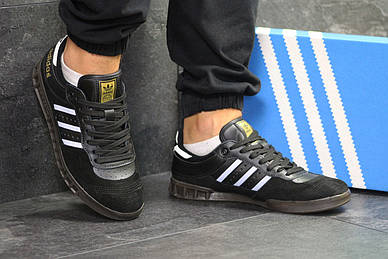 Замшевые мужские кроссовки Adidas - кеды адидас черные   чоловічі кросівки  адідас (Топ реплика ААА 9848e10e9945e
