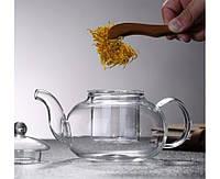 Заварочный стеклянный чайник 1100 мл, фото 1