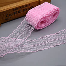 Кружево Анжелика  4 см, нежно-розовый