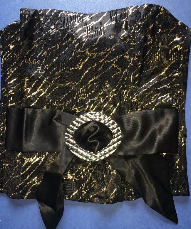 Корсет  из стрейч-атласа  L  1167  Черный с золотом