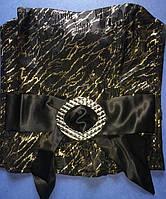 Корсет  из стрейч-атласа  L  1167  Черный с золотом, фото 1