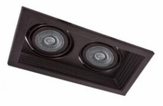 Точечный карданный регулируемые светильник DLT202 2х MR16 черный Код.59340, фото 2