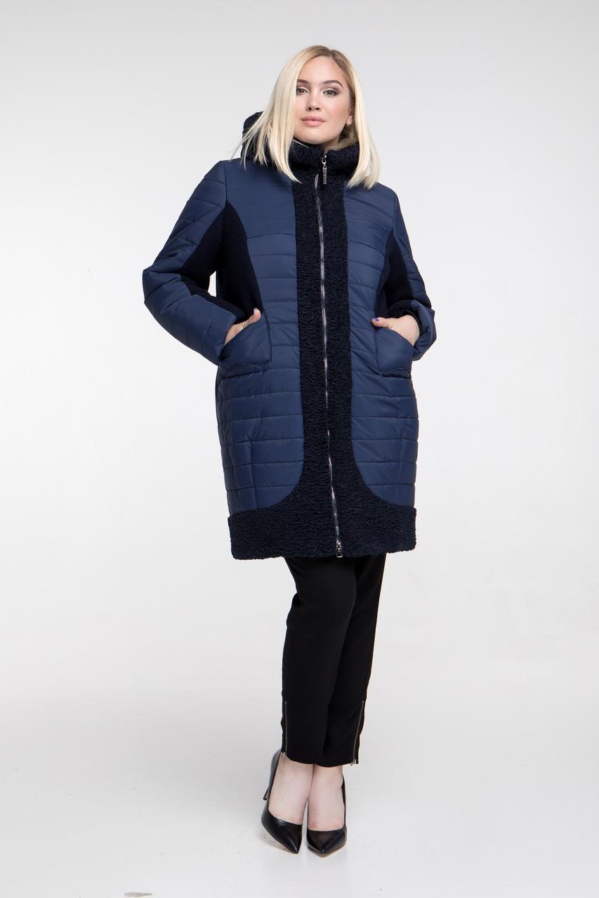 Зимнее комбинированное пальто, Арт. 648 (р.50-62)