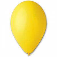 """Воздушные шары Gemar 12"""" (30 см), Пастель Жёлтый 03, 100 шт (G110)"""