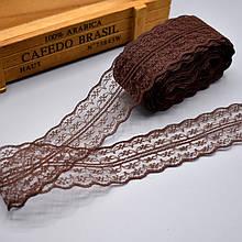 Кружево Анжелика  4 см, коричневый