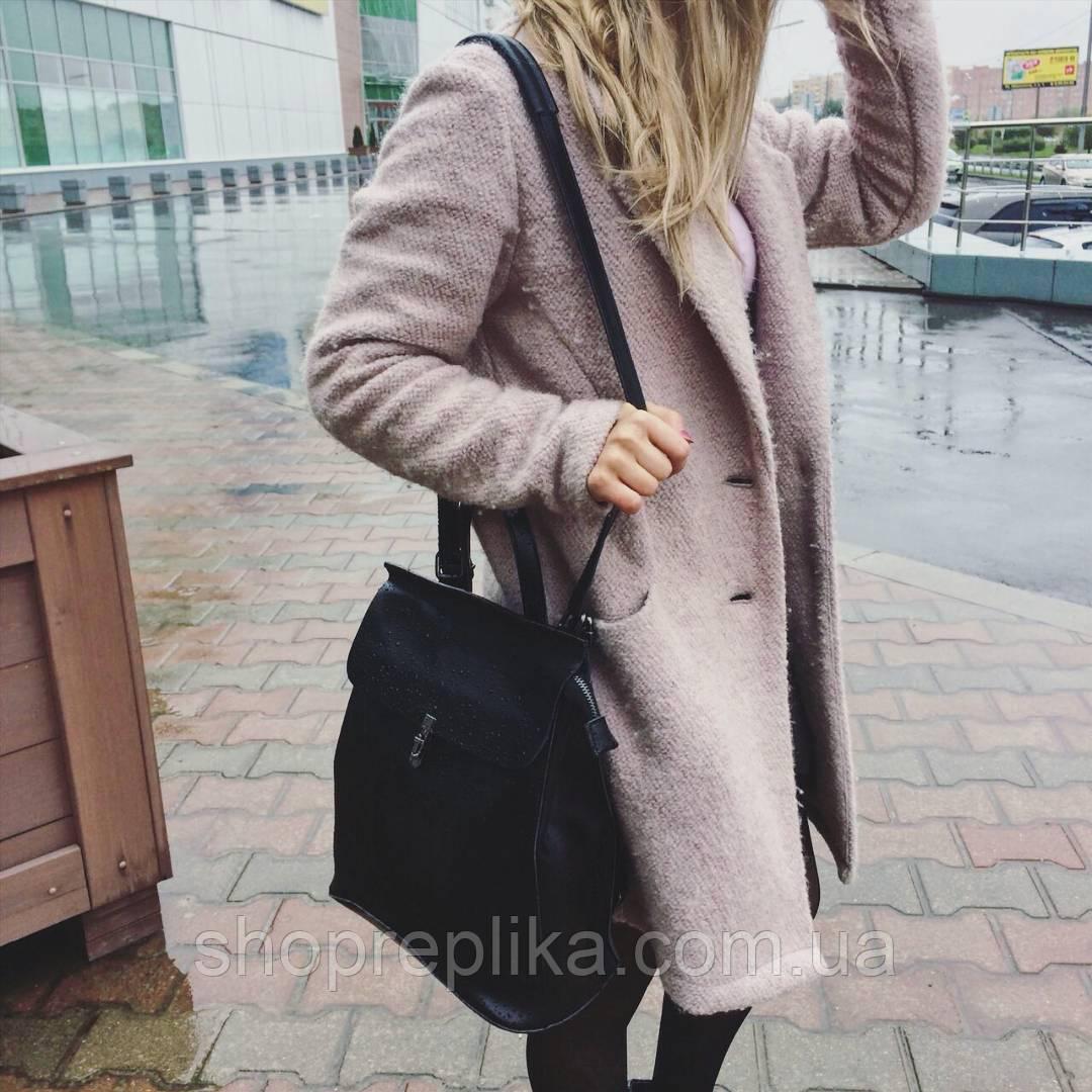 Кожаный рюкзак-сумка трансформер -городской, повседневный   ss258459
