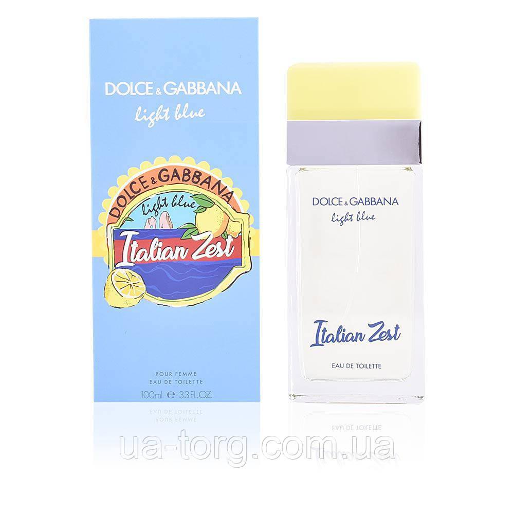 Женская туалетная вода Dolce&Gabbana Light Blue Italian Zest