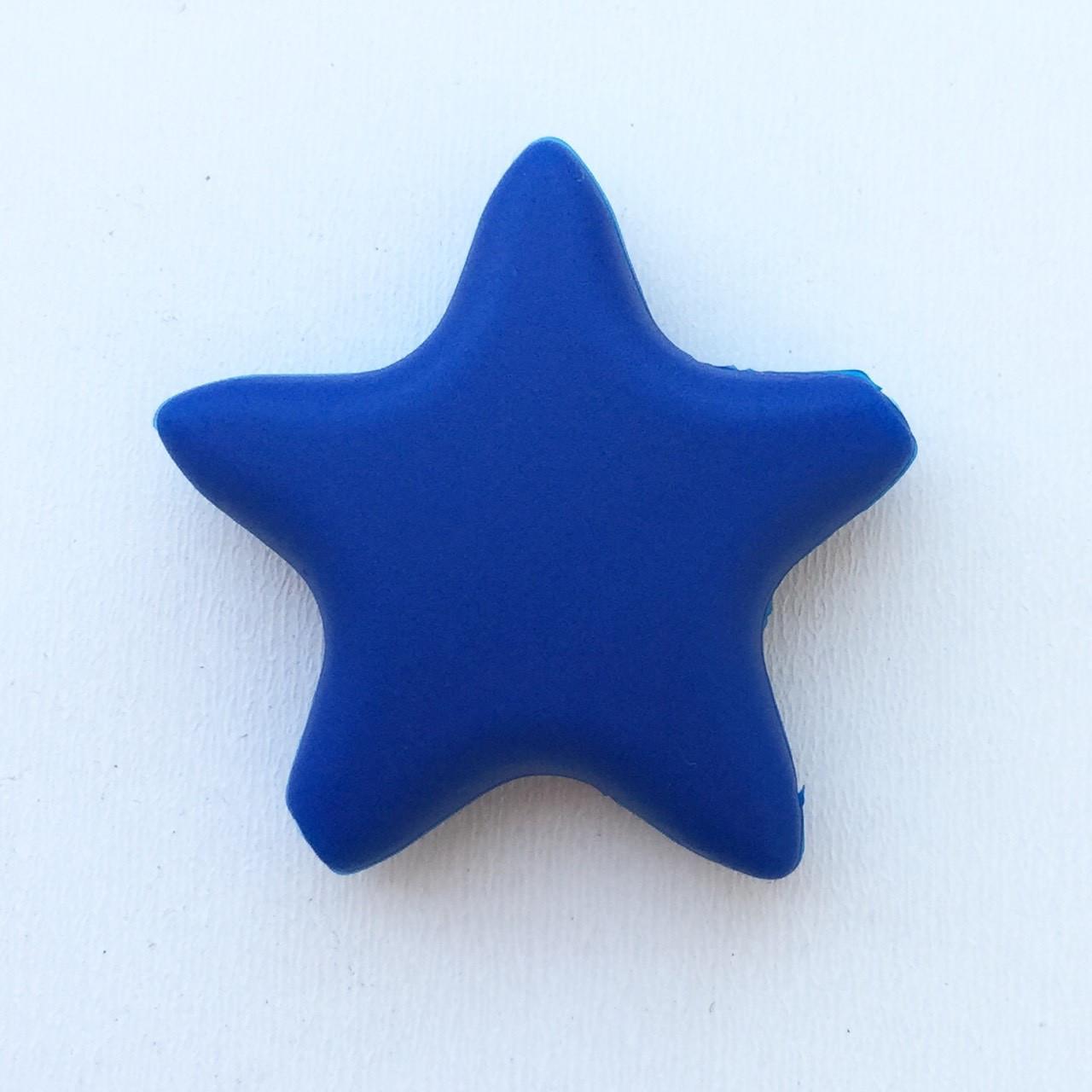 Звезда  острокон. (темно-синяя), бусины из пищевого силикона