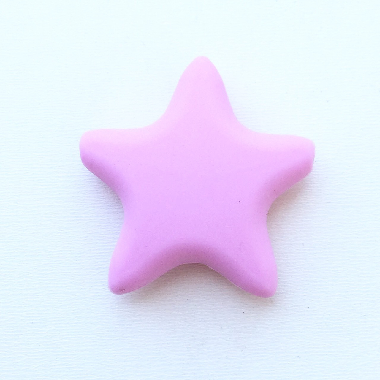 Звезда  острокон. (пейл пинк), бусины из пищевого силикона