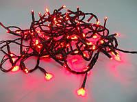Гирлянда на елку светодиодная на 100 ламп красная для улицы