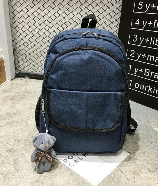 Рюкзак женский городской Lila с мишкой Синий