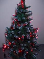 Гирлянда на елку светодиодная на 100 ламп красная для улицы, фото 3