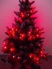 Гирлянда на елку светодиодная на 100 ламп красная для улицы, фото 2
