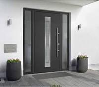 Входные двери в дом Thermo65 Hormann, RAL 7016