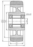 Колесо стабилизирующее для штабелера и электротележки 150/048/122/5/20 B