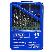Набор сверл по металлу S&R Meister Co 19 шт.