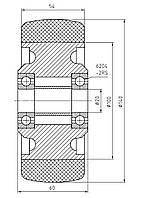 Колесо стабилизирующее для штабелера и электротележки 140/054/100/5/20 B