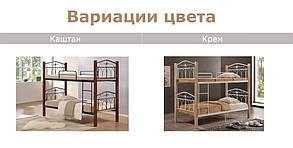 """Кровать """"Миранда"""" 2-х ярусная 900*2000 Крем  (Domini TM), фото 2"""